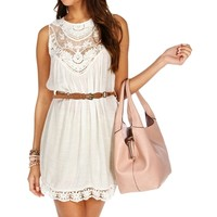 Crochet Belted Tunic