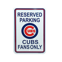 "MLB Chicago Cubs 12"" x 18"" Reserved Parking Sign - White"