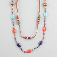 Full Tilt Seed Beaded Long Necklace Antique Gold One Size For Women 23441862301