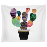Pretty Cactus Tapestry