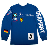 Club Foreign Long Sleeve T Shirt German Series - Blue