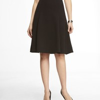 HIGH WAIST MIDI FIT AND FLARE SKIRT