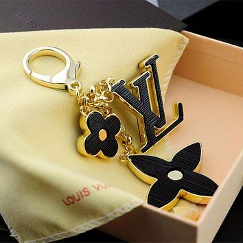 LV Women Fashion Plated Bag Ornaments Key Buckle