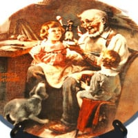 Norman Rockwell, The Toy Maker, Knowles in 1977, Collector plate