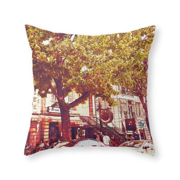 Society6 Montreal Side St Throw Pillow