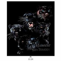 5D Diamond Painting Black Panthers Kit