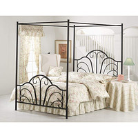 348BQP Dover Bed Set - Queen - w/Canopy and Legs - Rails not included