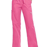 Buy Landau ScrubZone Womens Four Pocket Petite Cargo Scrub Pants for $25.45