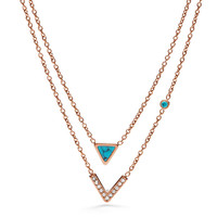 Turquoise Double-Strand Convertible Necklace