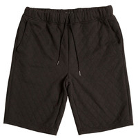 BLACK QUILTED KNIT SHORT