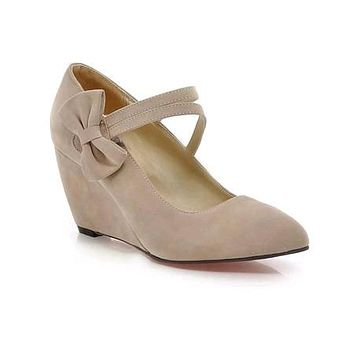 Women's Butterfly Knotted Platform Wedges Shoes