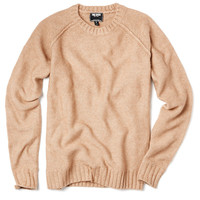 Raglan Crew Sweater in Camel
