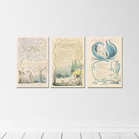 "46"" x 22"" - Kids Room Wall Art - Songs of Innocence Book Covers"