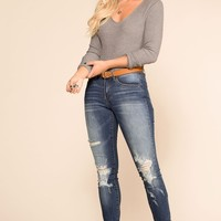 Good Timing Distressed Skinny Jeans