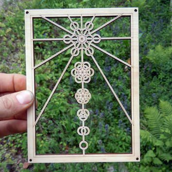Ascension – Sacred Geometry Wooden Wall Hanging