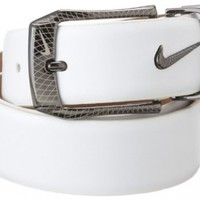 Nike Men's Laser Etched Buckle Belt