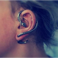 Snake Ear Cuff by thestarseed on Etsy