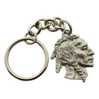 Native American Keychain ~ Antiqued Pewter ~ Keychain