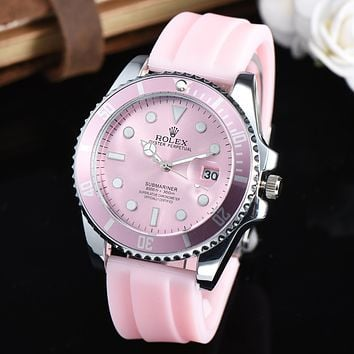 Rolex Timeless Chic Women Men Watches Wrist Watch Pink