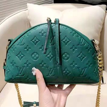 LV 2019 new embossed letters women's chain bag shoulder bag