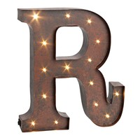 ''r'' LED Letter Wall Decor (Brown)