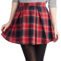 Refined Research Skirt in Red   Mod Retro Vintage Skirts   ModCloth.com