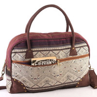 Boho/ Gypsy Holiday Bag Embroidered Weekender Crossbody Bag, Vacation Bag, Carry on baggage, Suitcase,