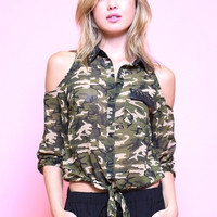 Camo Printed Shirt- FINAL SALE