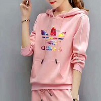 ADIDAS Color printing letters - hoodies women TOP AND TWO PIECE SUIT I-MLDWX