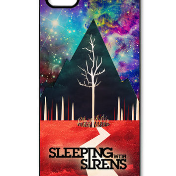 Sleeping With Sirens album cover on galaxy nebula iPhone 5/5s Case
