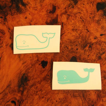 Vineyard Vines Inspired Whale Decal