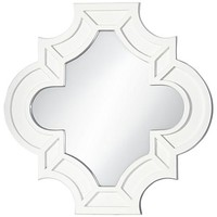 "Moroccan Reflection White 34 1/2""x34 1/2"" Wall Mirror - #9D548 