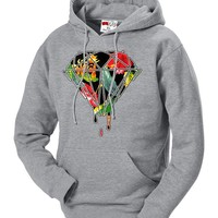 BeWild Brand® - Floral Dripping Diamond Adult Hoodie #B515-PS