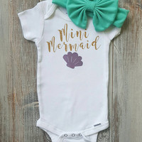 Baby girl clothes, baby girl Onesuits, Onesuit, mermaid Onesuit, infant Onesuits, Baby girl bodysuits, Baby shower gift, Baby Onesuits, Baby girl