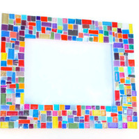 Multicolored Mosaic Picture Frame