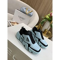 PRADA Men Fashion Boots fashionable Casual leather Breathable Sneakers Running Shoes-119