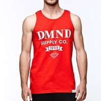 Diamond Supply Co New School Scroll Tank Top - Mens Tee - Red