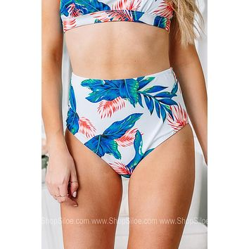 Tropical Royalty High Waisted Swimsuit Bottoms