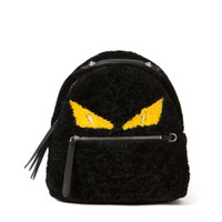 Fendi Monster Mini Shearling Backpack | Kirna Zabete