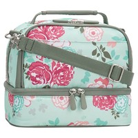 Gear-Up Pool Garden Party Floral Dual Compartment Lunch Bag
