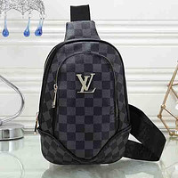 Louis Vuitton LV Woman Men Fashion Leather Satchel Crossbody Chest  Bag Shoulder Bag