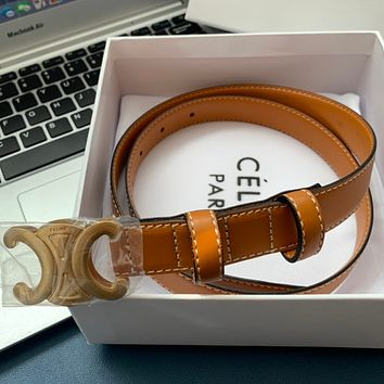 Celine leather belt