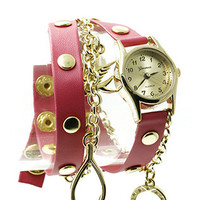 Pink Dove Charm Wrap Watch