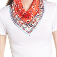Tory Burch Floral Stamped Silk Scarf | Nordstrom
