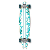 Punked Fishtail White Digital Wave Longboard Complete