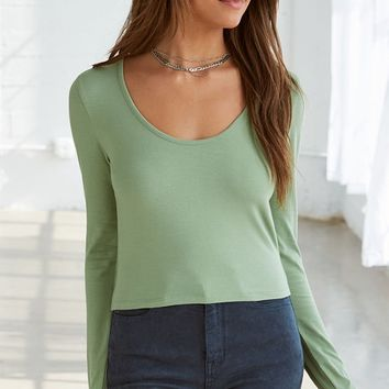PS Basics by Pacsun Cropped Long Sleeve Top at PacSun.com
