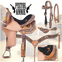 Silver Royal Pistol Annie Barrel Saddle| The Saddle Company