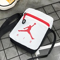 NIKE Jordan New fashion people letter print couple shoulder bag White