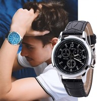 Fashion Casual Men Watch Luxury Quartz Leather Band Watches Mens Analog Wrist Watch Gifts Business Man Clock montre homme S#65
