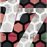 Distressed Hexagonal #17 iPhone Case by Numnizzle